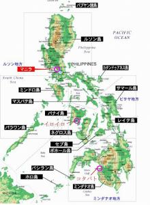 タビナカセブ島ジンベイザメフィリピン地図600